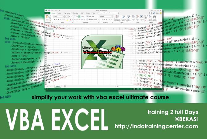Kursus Excel Macro VBA Bekasi promo EARLYBIRD diskon 30%