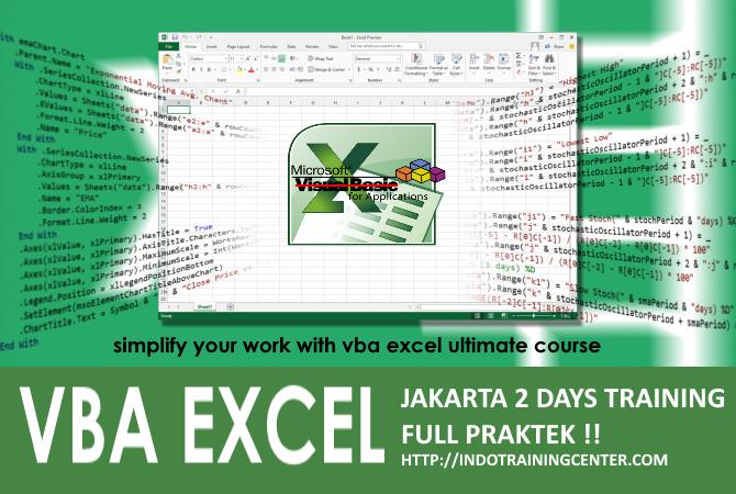 Kursus Excel Macro VBA Jakarta - office automation